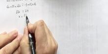 Ecuaciones primer grado con paréntesis 9, 10 y 11