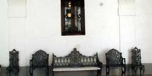 Banco y sillas de la Casita del Labrador, Aranjuez, Comunidad de