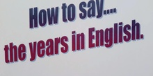 ENGLIHS WITH SARAH: YEARS IN ENGLISH