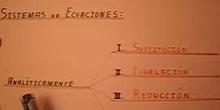 Sistemas de Ecuaciones: Sustitución