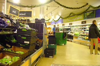 Interior de supermercado