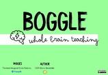Boogle - Instrucciones y Task Cards
