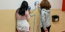 Intervención artística en el pasillo de 2º ESO del edificio B 4