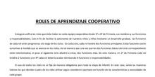 ROLES DE APRENDIZAJE COOPERATIVO