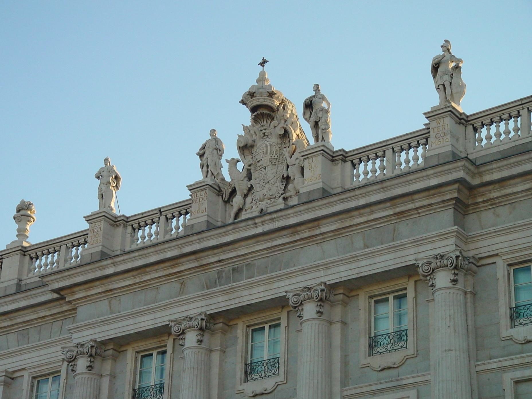 Detalle del Palacio Real de Madrid