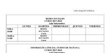 Horario Informática 2017/18