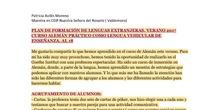 PROYECTO FINAL. PLAN DE LENGUAS EXTRANJERAS (AL 18)