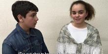 Entrevista figurada a Mª Elvira Lacaci por alumnos de 1º ESO