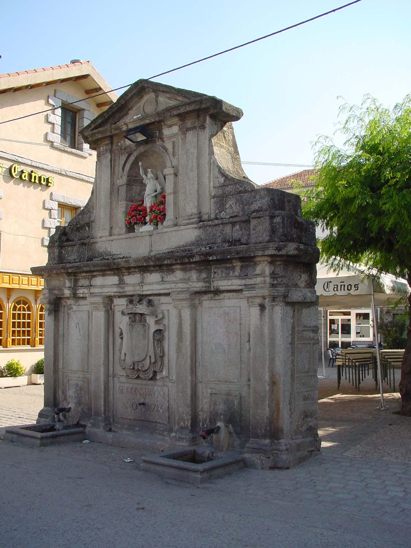Fuente de piedra en Guadarrama