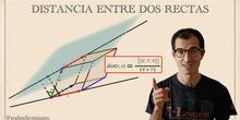 Distancia entre dos rectas y perpendicular común