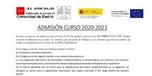 Información Admisión 20/21