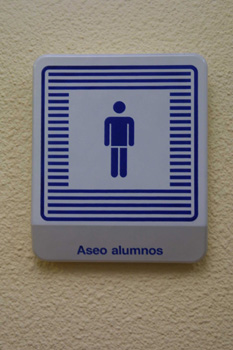 Cartel: cuarto de baño