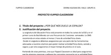 Proyecto final flipped classroom
