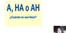 A, ha, ah