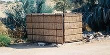 Ducha de campamento africano, Namibia