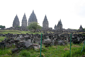 Complejo Templos Wisnu, Rama y Shiva, Prambanan, Jogyakarta, Ind