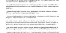 INFORMACIÓN SOBRE PROCESO DE ADMISIÓN
