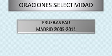 Oraciones PAU Madrid