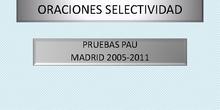 Oraciones PAU Madrid