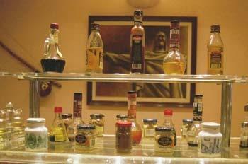 Exposición de aceites y salsas