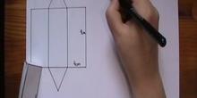 Calculo del área y el volumen de un prisma
