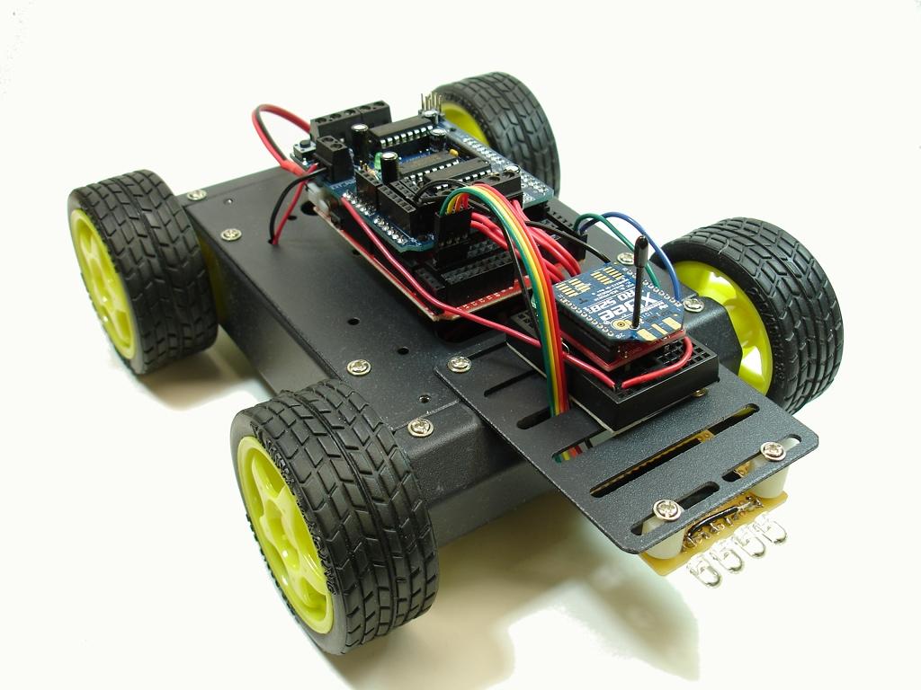 Example of control and robotics car