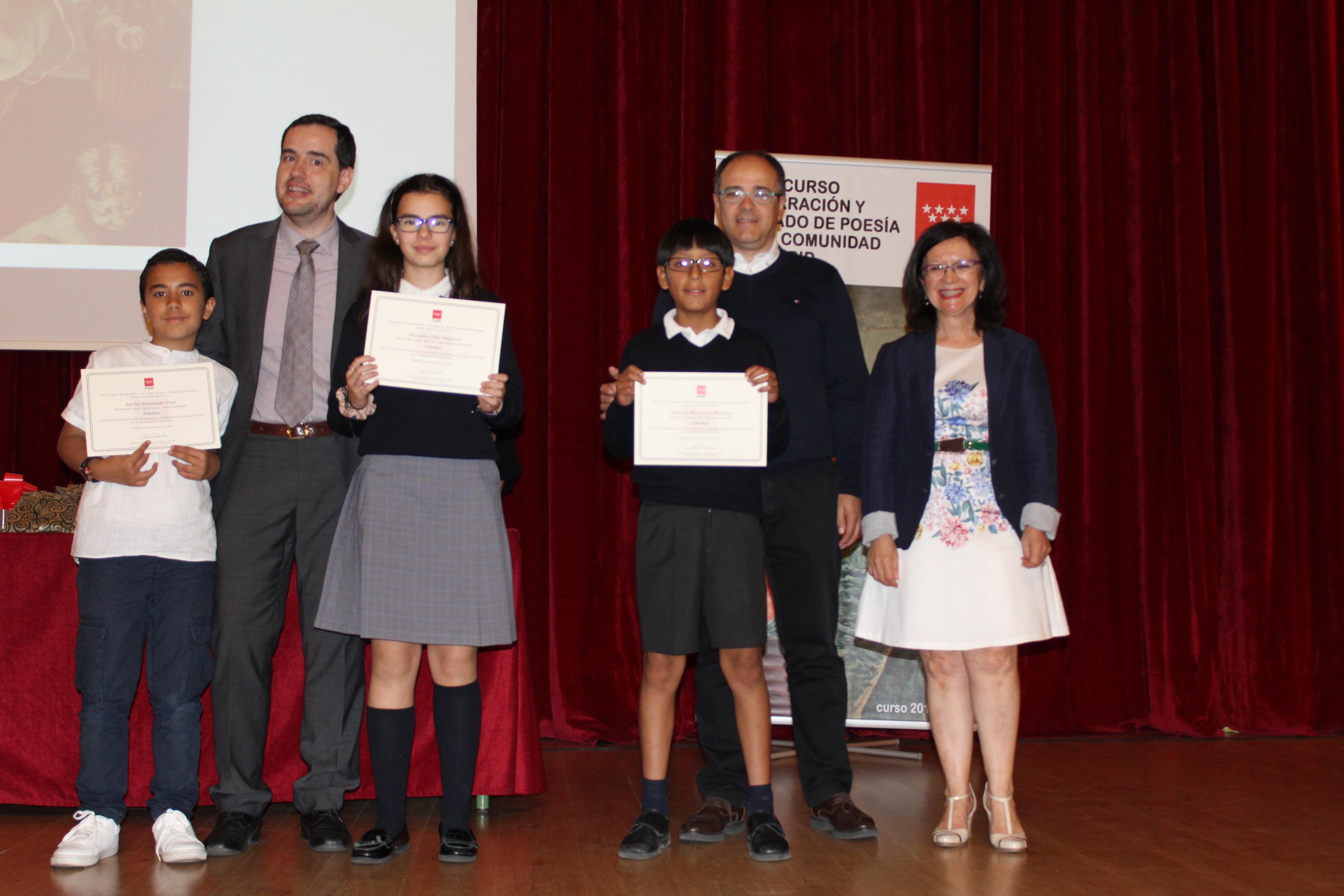 Entrega de los premios del IX Concurso de Narración y Recitado de Poesía