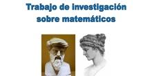 Actividad Trabajo de investigación matemáticos 3ºESO