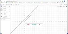 Dirección de una recta que pasa por un punto