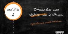 Divisiones con divisor de dos cifras