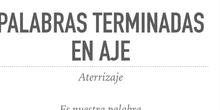 PRIMARIA - 5º -  LENGUA -  PALABRAS TERMINADAS EN AJE - FORMACIÓN