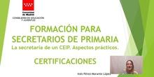 Secretarios. Procedimiento de Certificación.