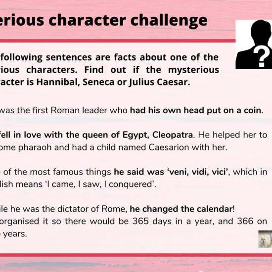 Mysterious character challenge