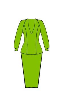 Vestido de manga raglán