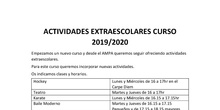 Actividades extraescolares 2019-2020