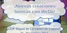 Nuevas creaciones básicas con WeDo