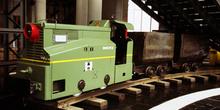 Locomotora diesel de interior de la mina, Museo de la Minería y