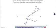 Hallar punto intersección de recta con un plano