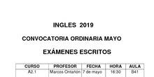 examen mayo inglés 2019 Barajas