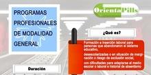 Infografía PROGRAMAS PROFESIONALES de MODALIDAD GENERAL ORIENTAPILLS