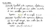 Ecuaciones: introducción  (2º ESO)