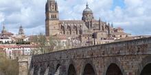 Catedral Nueva de Salamanca desde el Puente Romano, salamanca, C