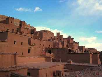 Construcciones escalonadas, Ait Benhaddou, Marruecos