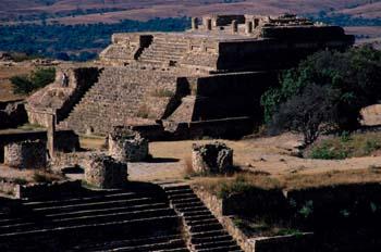 Templo de las ruinas de Monte Albán, Oaxaca, México
