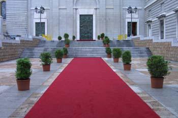 Alfombra roja en la Catedral de la Almudena, Madrid