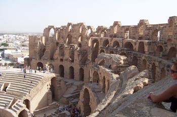 Cávea, Anfiteatro de El Djem, Túnez