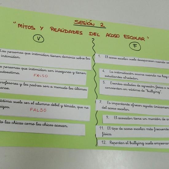 Dinámica de grupo sobre análisis de los mitos y realidades del acoso escolar 2