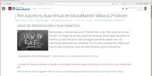 Presentación del curso: ¡Pon a punto tu Aula Virtual! 2ª Edición