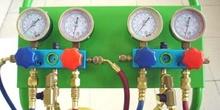 Cuadro de mandos de la unidad de carga de aire acondicionado