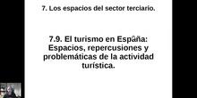 0709 Espacios, repercusiones y políticas sobre el turismo en España.